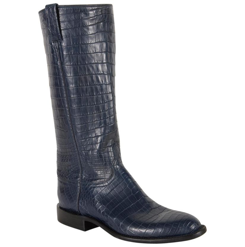 Lucchese Classics Women's Navy Caiman Western Boots