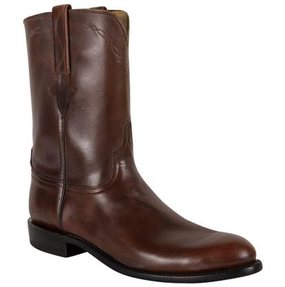 Lucchese Classics Mens Chocolate Oil Calf Western Boots