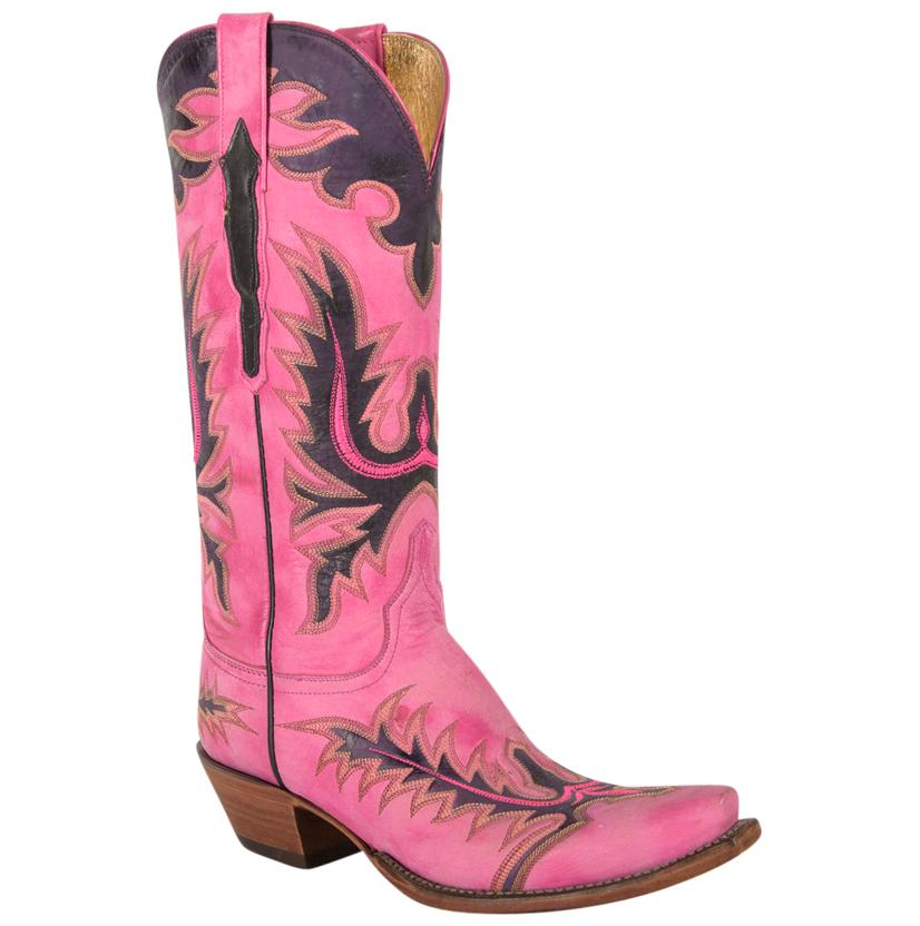 Lucchese Ladies Hot Pink Goat Boots