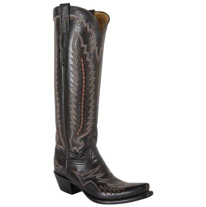 Lucchese Classics Women's Black, Red, & White Cowgirl Boots
