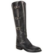 Lucchese Women's Black Oiled Calf Boots