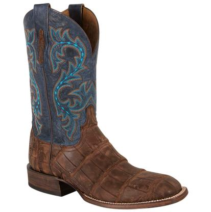Lucchese Malcolm Brandy Giant Alligator Boots