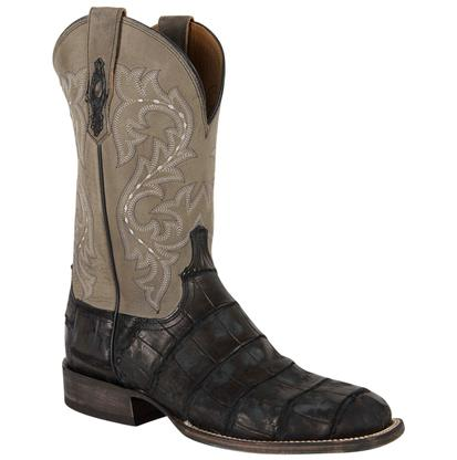 Lucchese Malcolm Black Giant Alligator Boots