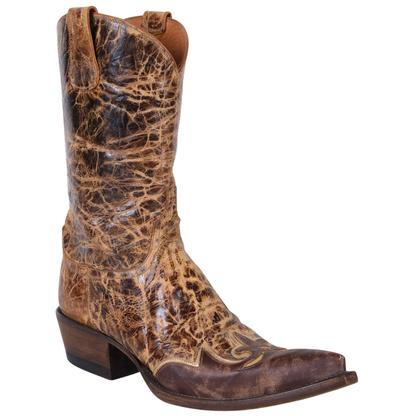 Lucchese Women's Brown Delta Calf Regal Wingtip Diva Boots