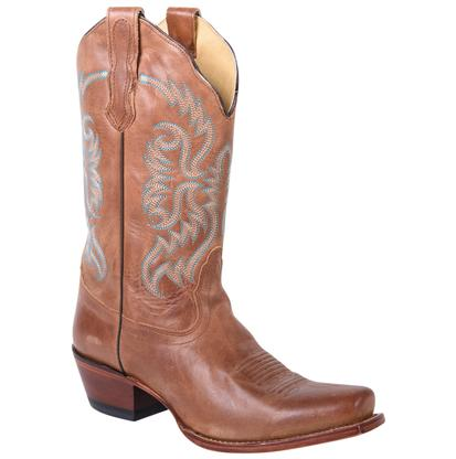 Nocona Women's Old West Tan Boots