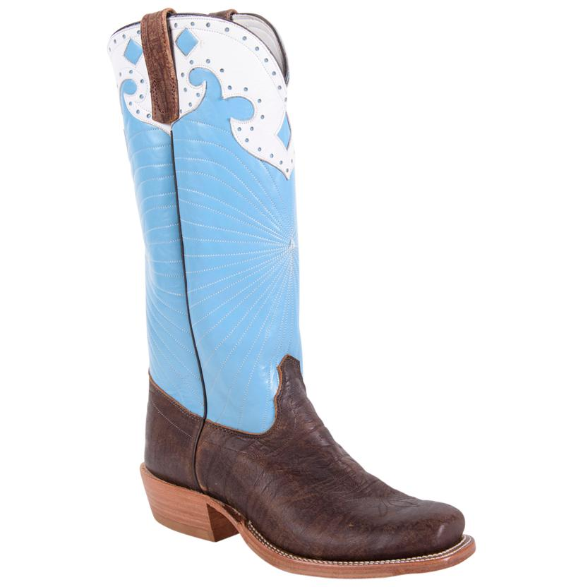 Olathe Mens Honolulu Blue Coffee Bison Boot