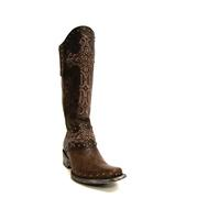 Old Gringo Women's Distressed Brown Krusts Over-the-Calf Boots