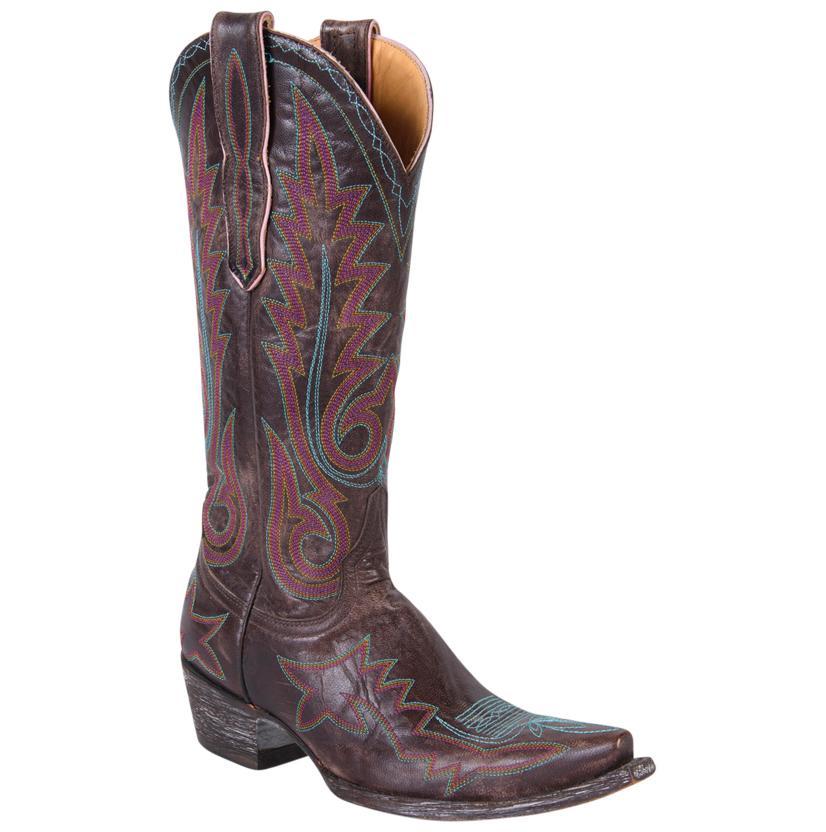 Old Gringo Women's Vesuvio Chocolate W/Purple Nevada Boots