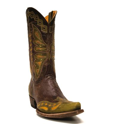 Old Gringo Women's Green & Brass Monarca Butterfly Cowgirl Boots