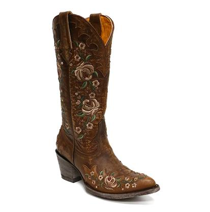 Old Gringo Martina Brass And Floral Boots