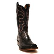 Rios of Mercedes Chocolate Crocodile Cowboy Boots