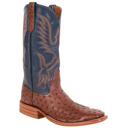 Rios of Mercedes Cigar Full Quill Ostrich Cowboy Boots
