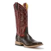 Rod Patrick's Antique Mocha Bison Cowboy Boot