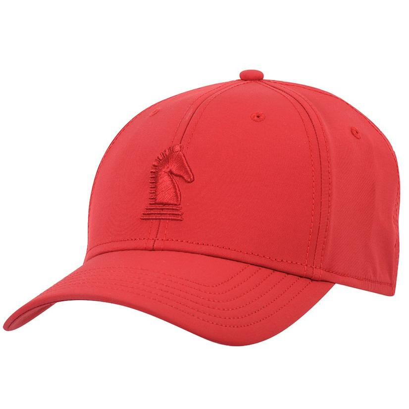 Men's Classic Red Fitted Baseball Cap