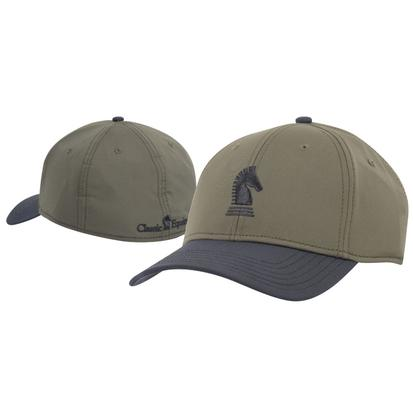 Classic Equine Olive/Black Baseball Fitted Cap