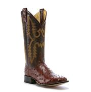 Men's Rod Patrick Almond Full Quill Ostrich Cowboy Boot