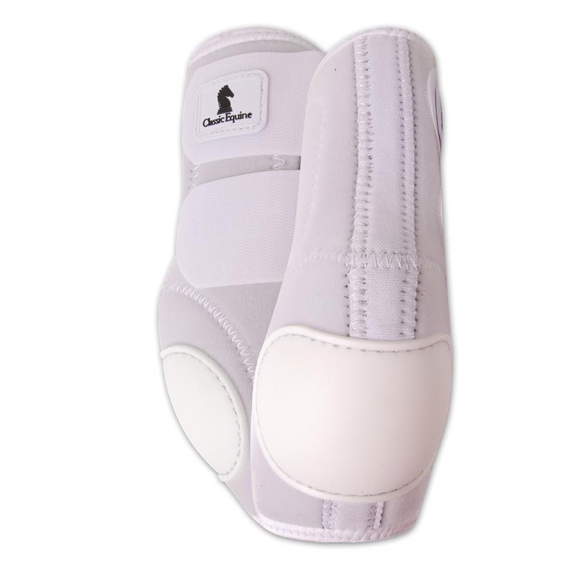 Classic Equine Neoprene Skid Boots WHITE