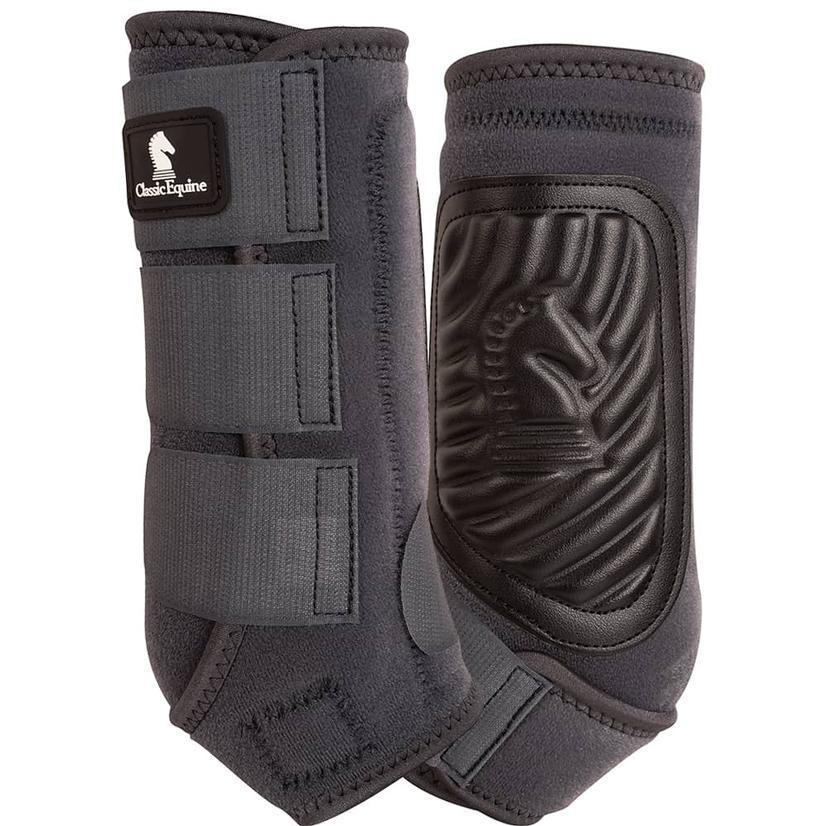 Classic Equine ClassicFit Front Leg Boots CHARCOAL