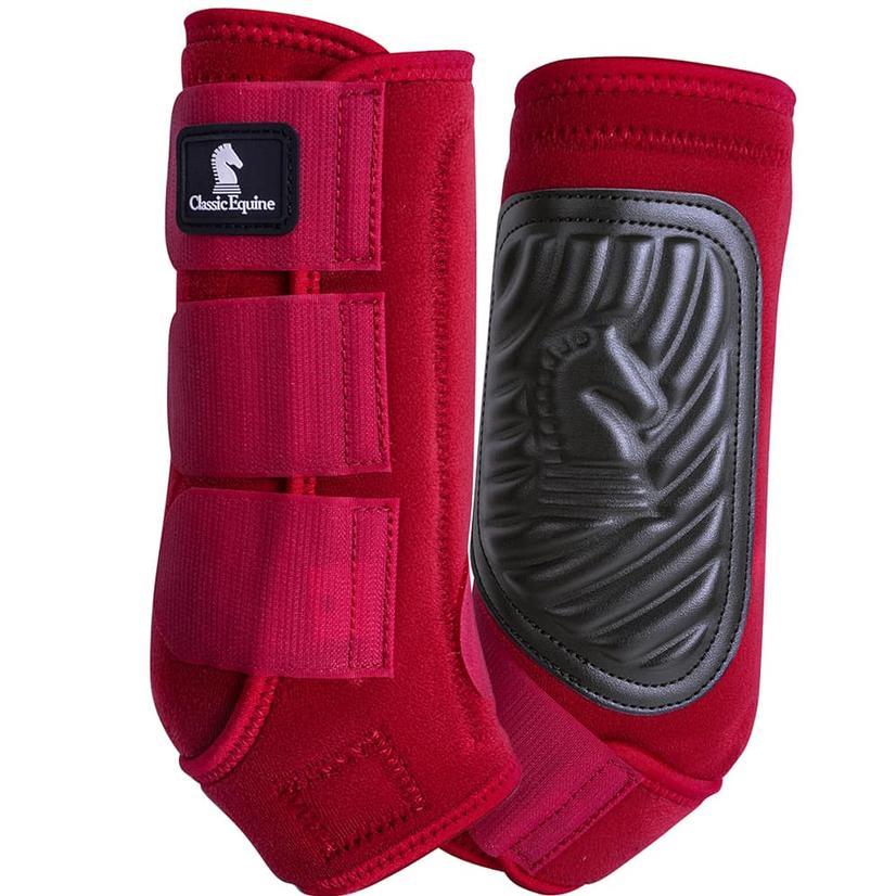Classic Equine ClassicFit Front Leg Boots CRIMSON