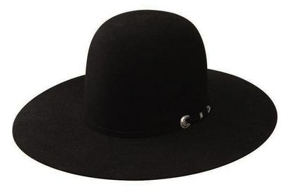 American Hat Company 20x Open Crown Black Felt Cowboy Hat