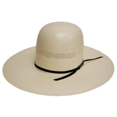 7104 O Regular Oval Panama Straw Cowboy Hat With 4 1/2