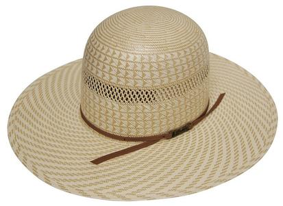 6100 S Two Tone Regular Oval Straw Cowboy Hat