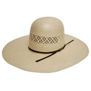 Two Tone Straw Cowboy Hat by American Hat Company