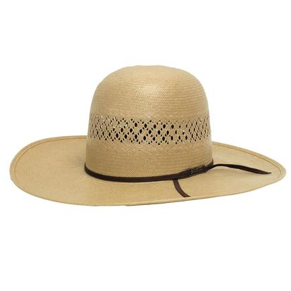 American Hat Company Open Crown Chocolate Straw Cowboy Hat