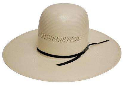 7104 O Long Oval Panama Straw Cowboy Hat With 4 1/2