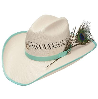 Savannah Straw Cowboy Hat Light Turquoise