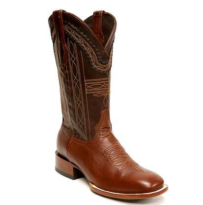 Stetson Mens Brown Goat Square Toe Boot