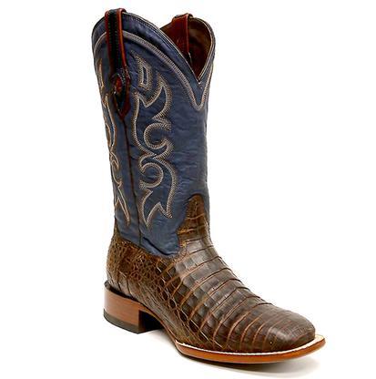 Stetson Honey Caimen Belly Square Toe Men's Boot