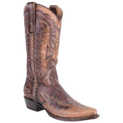 Roper Women's Stitched Eagle Underlay Snip Toe Boots