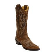 Stetson Women's Tobacco Embroidered Snip Toe Boot