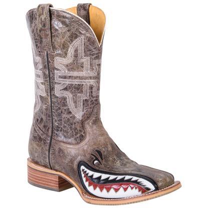 Tin Haul Men's Gnarly Shark Cowboy Boots