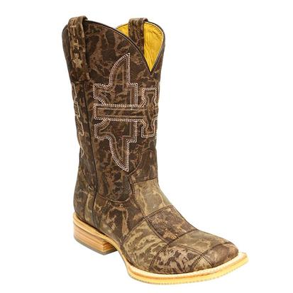 Tin Haul Men's Million Dollar Check Cowboy Boots
