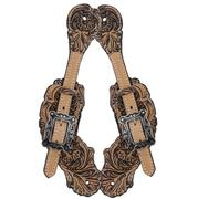 Bar H Equine Natural & Black Spur Straps
