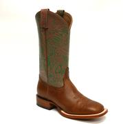 Tony Lama San Saba Collection Caramel with Pink and Green Embossed Women's Boots