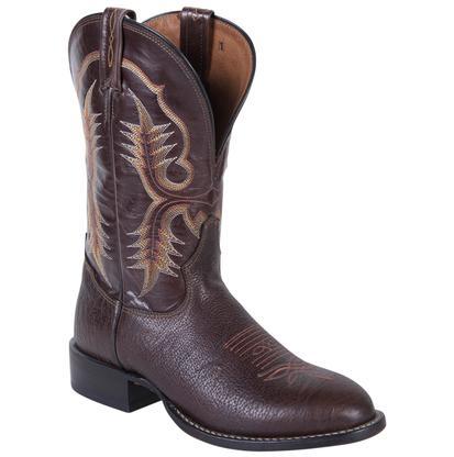 Tony Lama Men's Chocolate Shrunken Shoulder Round Toe Boots