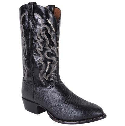 Tony Lama Men's Exotic Black Ostrich Round Toe Boots