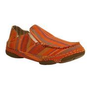 Tony Lama Women's Striped Canvas Slip On Shoe