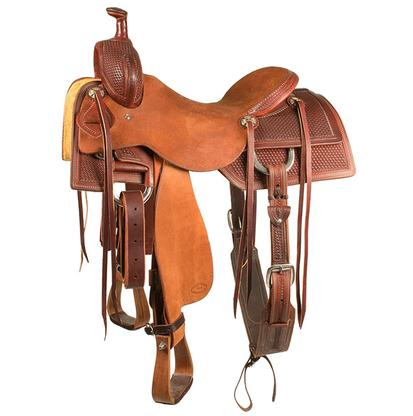 STT Ranch Cutter Saddle Half Basket Weave