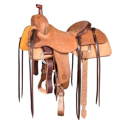 STT Ranch Cutter Hermann Oak Heavy Oil Saddle