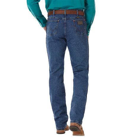 Wrangler Mens Cowboy Cut Slim Fit Jean – Stonewash (Extended Length)