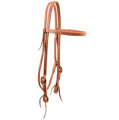 Unoiled Hermann Oak Leather Browband Headstall