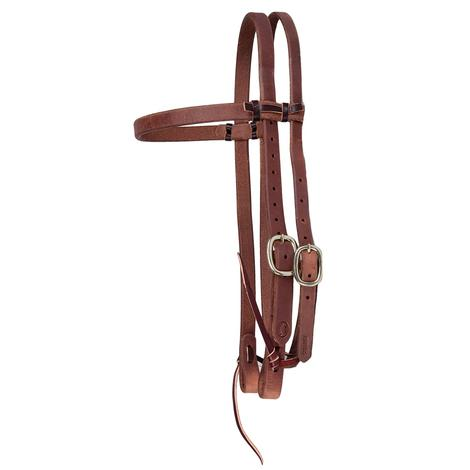 STT Hermann Oak Harness Leather Browband Headstall 3/4