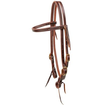 Browband Headstall Heavy Oil Hermann Oak Leather