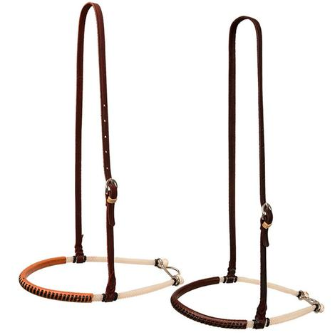 Double Rope Noseband with Laced Leather