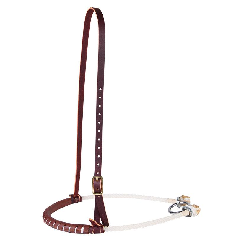 Harness Leather Covered Rope Noseband