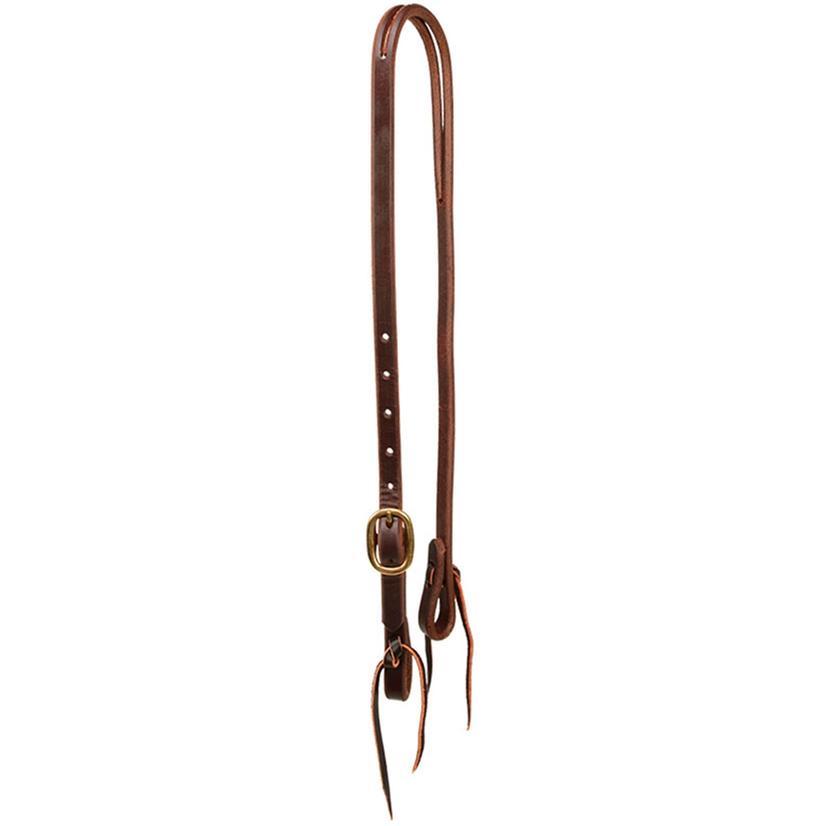 Stt Slit Ear Headstall Oiled Leather 5/8